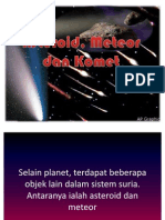 Asteroid, Komet Dan Meteor