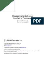 Micro Controller to Sensor Interfacing Techniques