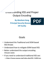 DOM Based XSS and Proper Output Encoding