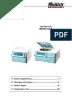 Hettich Rotina 420R-User Manual