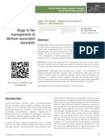 The role of antifungal drugs in the management of denture-associated stomatitis
