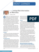 Presenting Risk Info on Web Sites