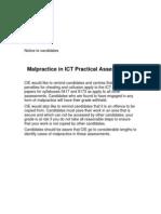 Notice to Candidates ICT Practicals