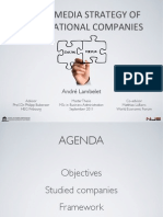 Social Media Strategy of Multinational companies