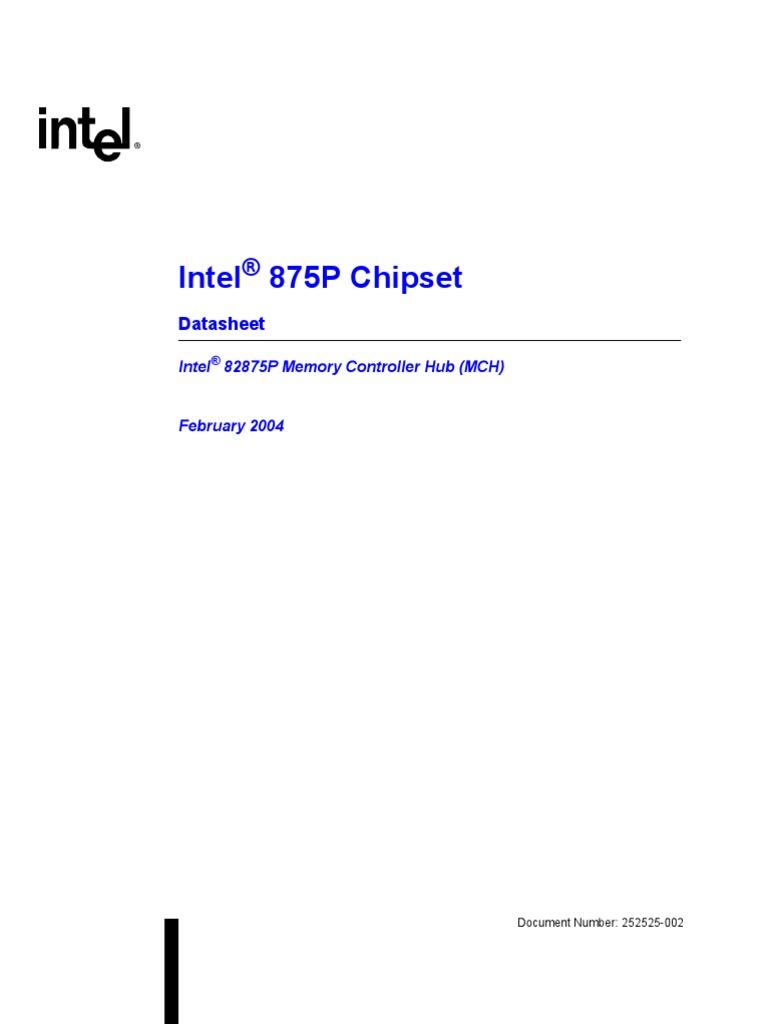 875p Chipset Datasheet   Dynamic Random Access Memory   Computer