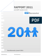 ZZP Barometer - Jaarrapport 2011 (gepubliceerd op 25 januari 2012)
