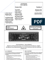 Manual Service Blaupunkt c32 Cd32 c52 Cd52