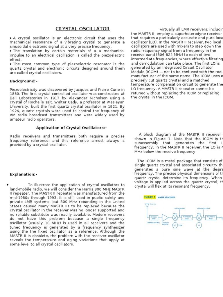 Crystal Controlled Oscillator Circuit