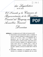 ley 18251 TERCERIZACIONES modificacion