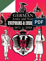 1871 German Army Navy Uniforms Insignia