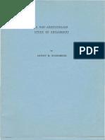 A Non-Aristotelian Study of Philosophy -Antony M. Economides