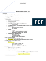 Global II Honors Midterm Study Guide