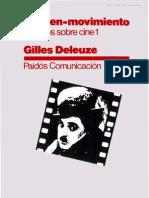 Deleuze La Imagen Movimiento Estudios Sobre Cine I