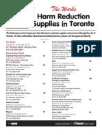 Toronto Needle Exchange Locations
