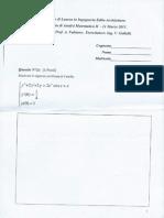 Analisi Matematica 2 - Appello 11 Marzo 2011