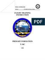 Flight Training Instruction Primary Formation T-34c