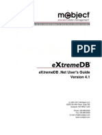 eXtremeDB Dot Net User Guide