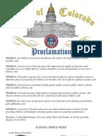 Colorado Proclamation