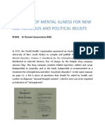biopsychosocial model of schizophrenia schizophrenia  diagnosis of mental illness for new age religious and political beliefs essay by dr romesh