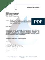 Oficio de Entrega Info Clencia y Santa Catalina