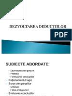 dezvoltarea deductiilor
