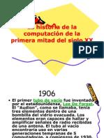 La historia de la computación de la primera mitad del siglo xx