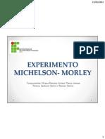 Experimento de Michelson e Morley