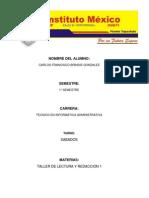 Taller de Lectura Brindis PDF