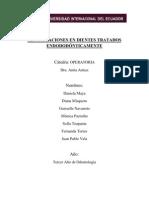 RESTAURACIONES EN DIENTES TRATADOS ENDODODÓNTICAMENTE