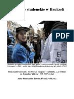 Obyczaje studenckie w Brukseli