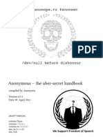 Anonymous – the uber-secret handbook