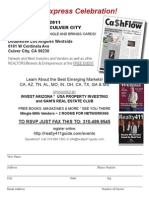 Cash Flow Express-- JOIN US FOR OUR CELEBRATION IN LOS ANGELES!!!