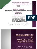 TRABAJO ACREDITACIÓN DE LABORATORIOS BAJO LA NORMA ISO   17025
