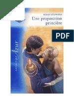 Une proposition princière