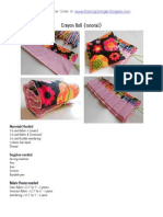 Crayon Roll {pattern and tutorial}