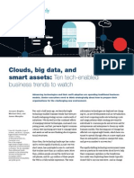 2010 McKinsey Quarterly Clouds, Big Data, And Smart Assets Ten Tech Enabled Business Trends to Watch