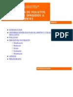 ELABORACIÓN DE FOLLETOS EDUCATIVOS DIRIGIDOS A PACIENTES