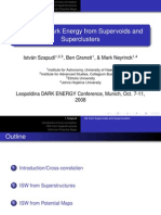 István Szapudi, Ben Granett and Mark Neyrinck- Detecting Dark Energy from Supervoids and Superclusters