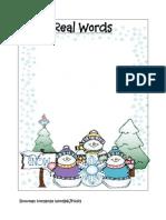 Snowman Nonsense Real Words