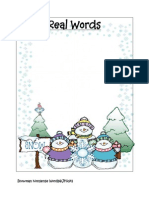 Snowman Nonsense Real Words