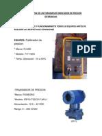 Configuracion de Un Transmisor Indicador de Presion Diferencial