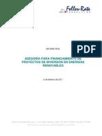 ASESORÍA PARA FINANCIAMIENTO DE proy de inversión en ERNC