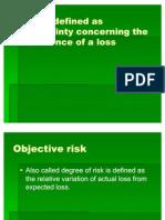 Risk Management 2010 Subjective