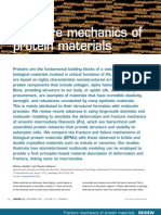 Fracture Mechanics of Protein Materials