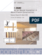 Guide for Sound Insulation in Wood Frame Construction