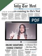 The Daily Tar Heel for January 24, 2012