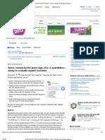 Spore Release by the Green Alga Ulva_ a Quantitative Assay to Evaluate Aquatic Toxicants