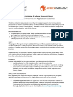 Africa Initiative Graduate Research Grant - Program Guidelines (Africa 2012)