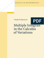 Multiple Integrals in the Calculus of Variations Oct 2008