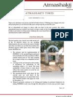 Atmashakti Trust - Progress Report Dec 2011